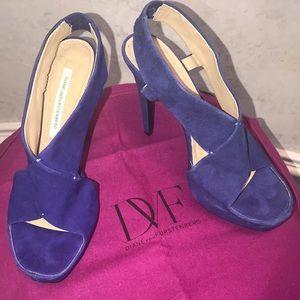 Diane von Furstenberg Open-Toe Suede Sandals